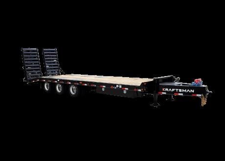 Kraftsman Trailers 60K 25 Ton Pintle Heavy Equipment Trailer w/ Lift Axle