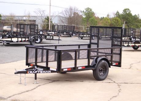 Kraftsman Trailers 5' Wide High Side Elite Single Axle Utility Trailer