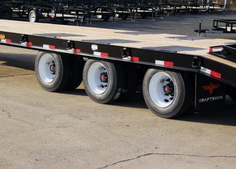 Kraftsman Trailers 60K 25 Ton Tri-Axle Pintle Heavy Equipment Trailer