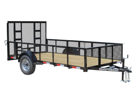 Kraftsman Trailers - 6' Wide High Side Single Axle Utility Trailer