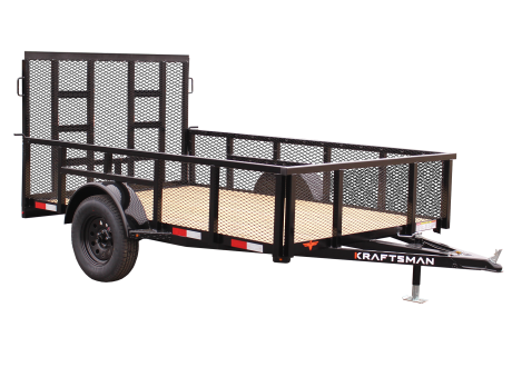 Kraftsman Trailers 6' Wide High Side Elite Single Axle Utility Trailer