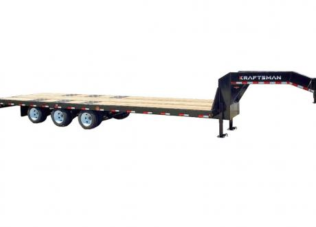 Kraftsman Trailers 30K Economy Tri-Axle Dual Wheel Gooseneck Flatbed