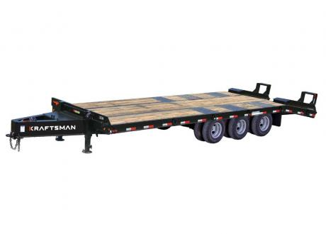 Kraftsman Trailers | 40K 15 Ton Tri-Axle Pintle Equipment Trailer w/ Electric Brakes