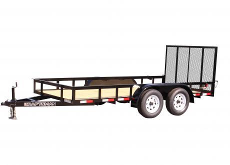 Kraftsman Traiers 6' Wide Economy Tandem Axle Utility Trailer