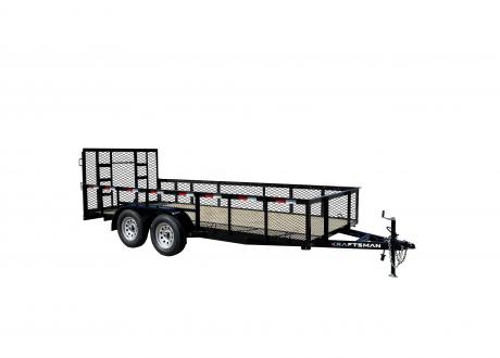 Kraftsman Trailers - 6' Wide High Side Tandem Axle Utility Trailer