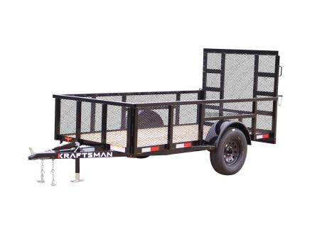 Kraftsman Trailers 5' Wide High Side Elite Single Axle Utility Trailer